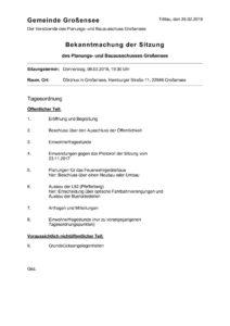 thumbnail of 2018-03-08 Planungs- und Bauausschuss Bekanntmachung
