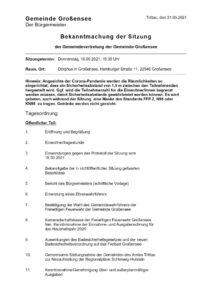 thumbnail of 2021-06-10 GV Großensee Bekanntmachung