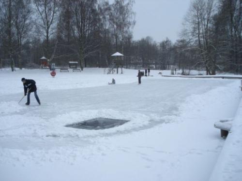 Loch frs Eisbaden